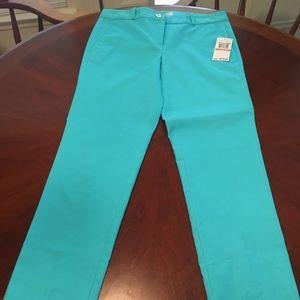 Michael Kors turquoise pants size 2 NWT